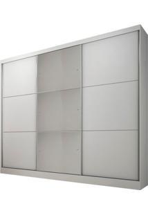 Armário Zeus 3 Portas Com Espelho Branco