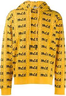 Mcq Alexander Mcqueen Moletom Com Logo E Cordão De Ajuste - Amarelo