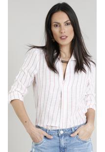 111de75b00 CEA. Camisa Jeans Feminina Com Botões Metálicos Manga Longa Azul Médio. R   129