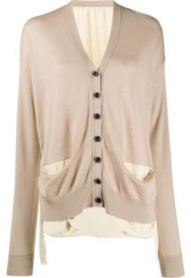 Uma Wang Long Sleeve Button-Up Cardigan - Neutro