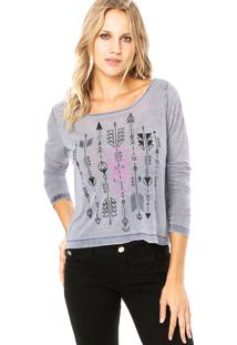 Blusa Billabong Manga Longa Arrow Marin Cinza