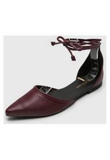 Sapatilha Dafiti Shoes Amarração Vinho