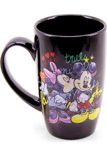 Caneca Minas De Presentes Mickey & Minnie Preta