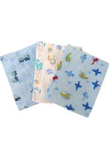Cobertores E Mantas Karinho Estampado Azul