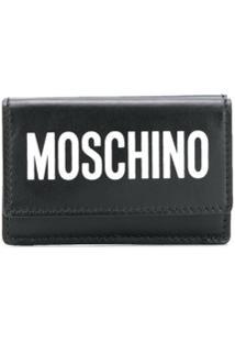Moschino Carteira Com Estampa De Logo - Preto