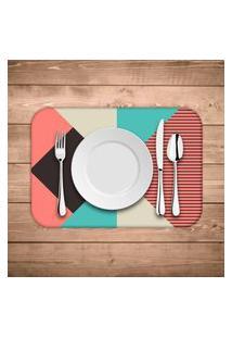 Jogo Americano Wevans Abstrato Colorfull Kit Com 4 Pçs