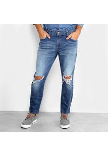 Calça Jeans Skinny Colcci John Cropped Masculina - Masculino-Azul