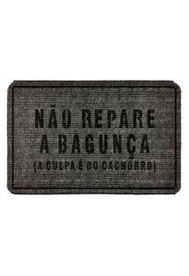 Capacho Carpet Náo Repare A Bagunça Cinza Único Love Decor