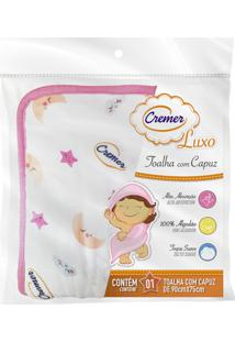 Toalha De Banho Fralda Capuz Menina 100% Algodã£O - Cremer - Rosa - Menina - Dafiti