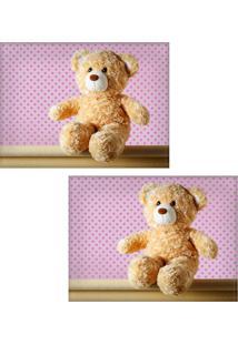 Jogo Americano Colours Creative Photo Decor - Urso De Pelúcia Ted - 2 Peças