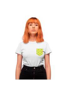 Camiseta Feminina Mirat Bolso Estampado Pineapple Branca