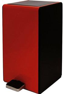 Lixeira Retro Vintage Modern Week 7L Com Pedal Design Aço Vermelha