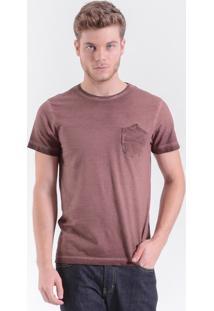 T-Shirt West Coast Vintage Pocket Tee Tinto