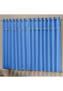 Cortina Dourados Enxovais Thierry Azul 2,00M X 1,70M