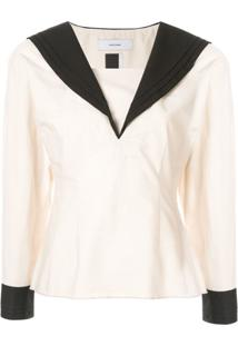 Facetasm Shawl Collar Blouse - Neutro