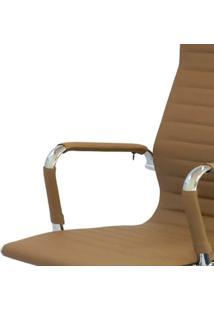 Cadeira Office Eames Presidente Com Rodízio E Sistema Relax Caramelo