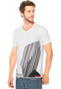 Camiseta Calvin Klein Jeans Linhas Branca