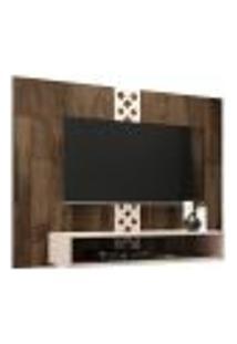 Painel Para Tv Até 47? Decorativo Quarto Sala De Estar Yoran Deck/Off White - Gran Belo