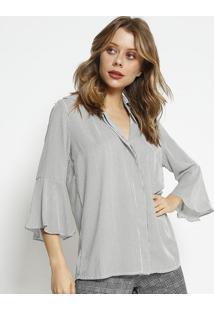 Camisa Listrada - Preta & Brancasimple Life