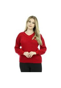 Blusa Tricot Feminina Mary Shopping Do Tricô Inverno Básica