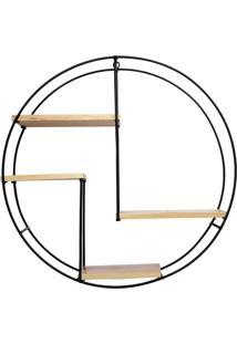 Prateleira Suspensa Retangular- Bege Claro & Preta- Decor Glass