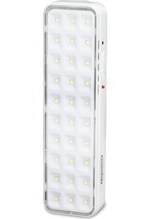 Luminária De Emergência Segurimax Autônoma 30 Leds Slim Branco