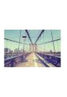 Painel Adesivo De Parede - Ponte Do Brooklyn - Nova York - 1683Pnm