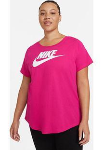 Camiseta Plus Size Nike Nsw Futura Feminina - Feminino-Pink