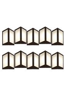 Arandela Triangular Marrom Kit Com 10 Casah