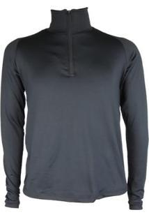 Camisa Térmica Masculina Seg. Pele Meio Zíper Thermo Premium - Masculino-Preto