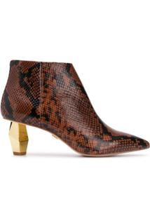 Kurt Geiger London Snake Ankle Boots - Marrom
