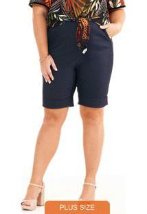 Bermuda Bengaline Alfaiataria Jeans