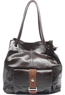 Bolsa De Couro Recuo Fashion Bag Sacola Tabaco