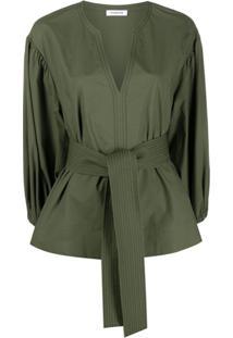 P.A.R.O.S.H. Blusa Com Acabamento Engomado - Verde