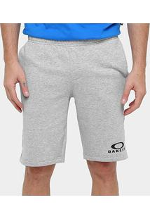 Bermuda Oakley Logo Fleece Masculina - Masculino