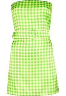 Bernadette Vestido Carrie Xadrez - Verde