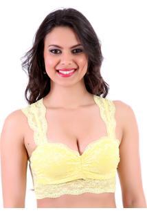 Sutiã Mardelle Top Cropped Amarelo