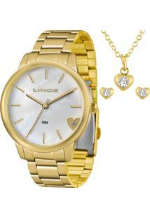 Kit Relógio Lince Feminino Com Colar E Brincos Lrg4559Lkv41B1Kx
