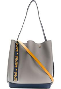Mcm Drawstring Shoulder Bag - Cinza