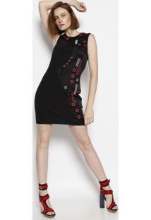 802c4d446e Vestido Ilhos Ziper feminino