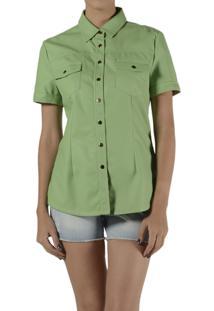 Camisa Marcia Mello Couro 0 Dubai Verde