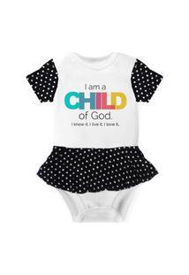 Body Com Saia Nerderia E Lojaria Child Of God Branco..