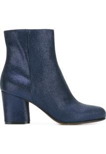 Maison Margiela Ankle Boot De Couro - Azul