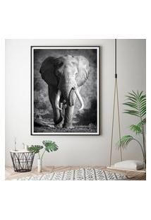 Quadro Com Moldura Chanfrada Elefante 40X60