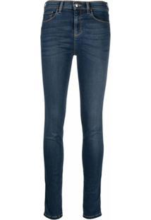 Emporio Armani Calça Jeans Skinny Cintura Alta - Azul