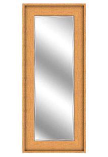 Espelho Bisotê Emoldurado 56X136Cm Bordeaux Euroquadro