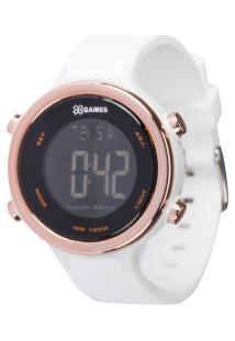 Relógio Digital X Games Xfppd063 - Feminino - Branco/Preto