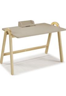 Mesa Escrivaninha Com Porta Objetos Ringo 1031 Natural/Marrom Claro - Maxima