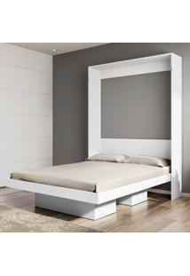 Cama De Casal Articulável Manhattan 2 Nichos Branco - Art In Móveis