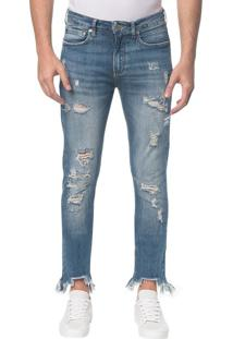 Calça Jeans Five Pockets Ckj 016 Skinny - Azul Médio - 36
